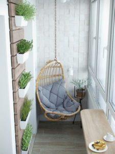 Hamaca en el balcón