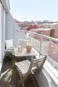 Muebles en el balcón